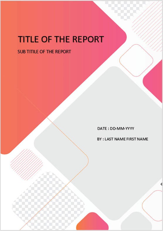 Cover Page  Download Template For MS Word  cover page rounded shapes