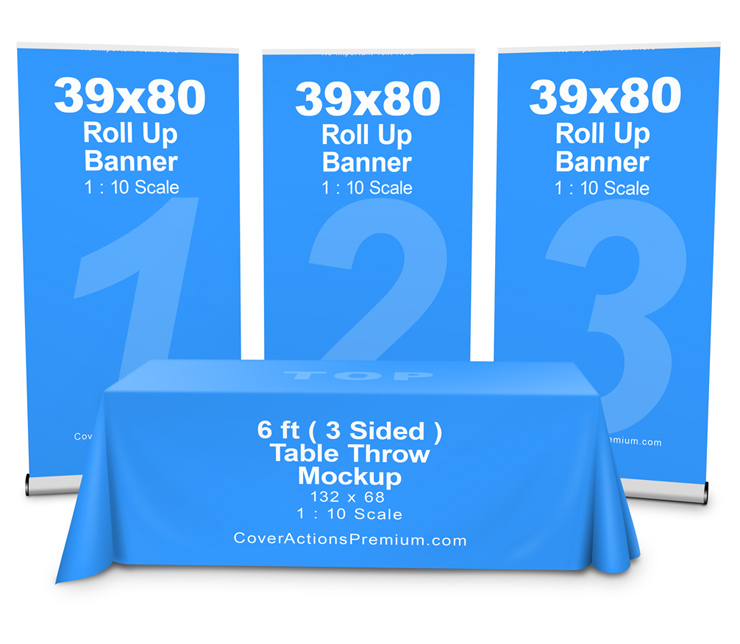 table throw mockup cover