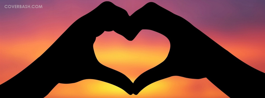 lovely heart facebook cover