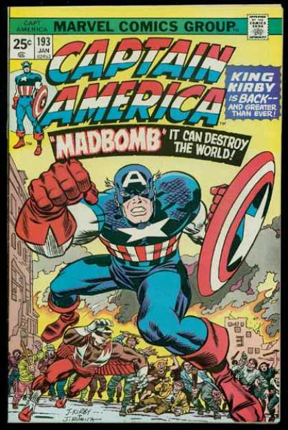 Captain America 193 - Madbomb - King Kirby - Destroy The World - Adventurous America - Marvel Comics Group - Jack Kirby