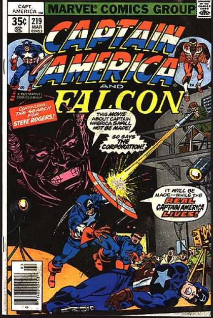 Captain America 219 - Shield - Search - Corporation - Lives - Real - Sal Buscema
