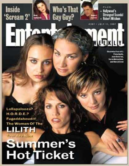Joan Osbourne, Sarah McLachlan, Sheryl Crow, and Fiona Apple represent Lilith Fair for Entertainment Weekly; image courtesy of coverbrowser.com