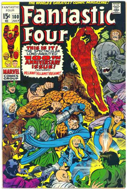 Fantastic Four #100, by Jack Kirby