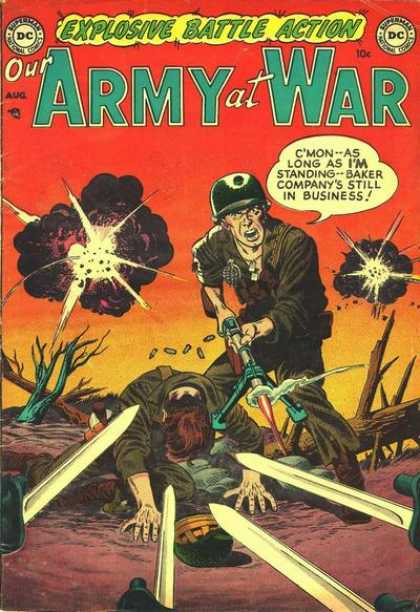 Our Army at War 1 - Dc - Superman - National Comics - Sword - Battle - Carmine Infantino