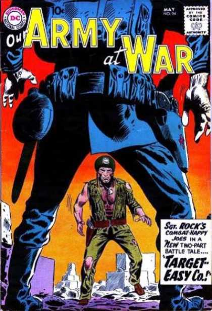 Our Army at War 94 - Target Easy Co - Combat Happy Joes - Battle - New Two Part - Fight - Joe Kubert