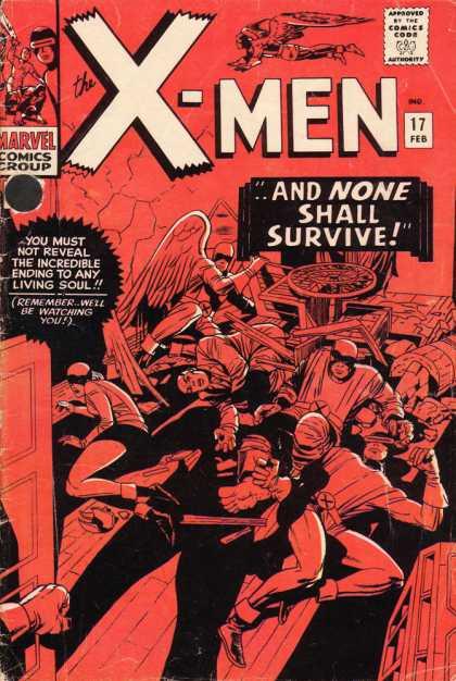 Uncanny X-Men 17 - Cyclops - Red - Angel - Professor X - Dick Ayers, Jack Kirby