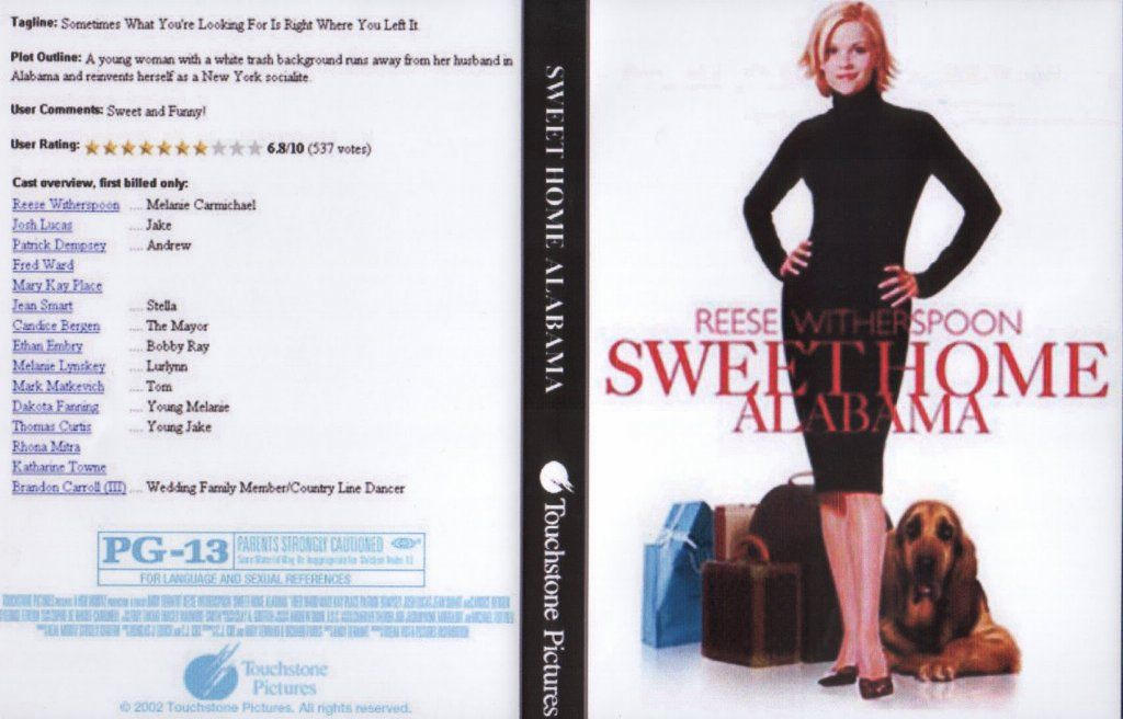 Check out the latest photos and bios of the cast and filmmakers of sweet home alabama. Sweet Home Alabama Dvd Us Dvd Covers Cover Century Over 500 000 Album Art Covers For Free