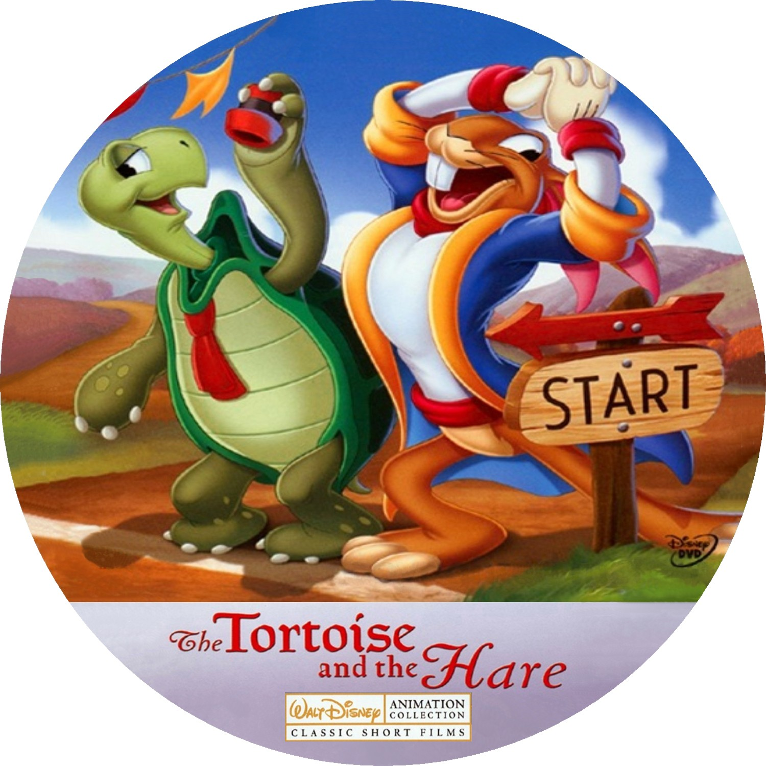 hight resolution of walt disney animation collection the tortoise and the hare 2009 ws r1 custom cd www freecovers net