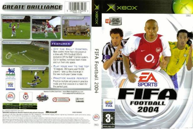 FIFA 2004 PAL XBOX FULL | XBOX Covers | Cover Century | Over 500.000 Album  Art covers for free