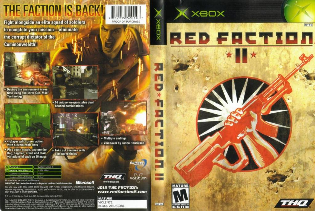 Red Faction 2 NTSC XBOX FULL   XBOX Covers   Cover Century   Over ...