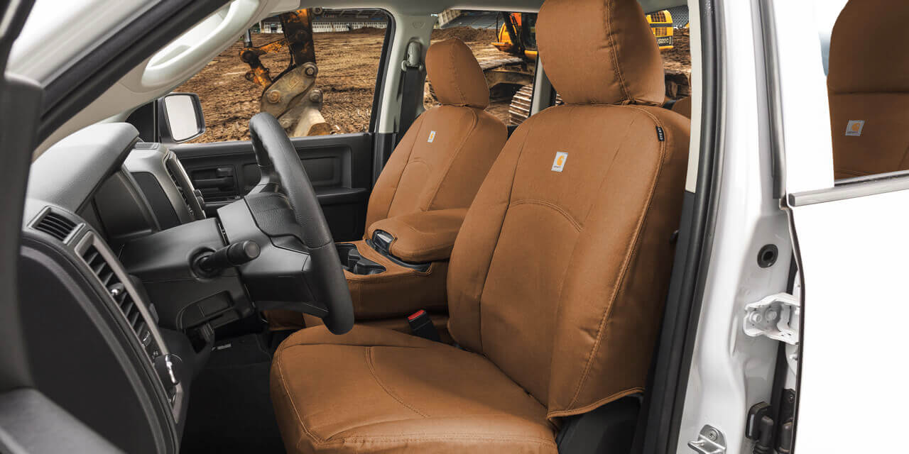hight resolution of carhartt duck weave seat covers