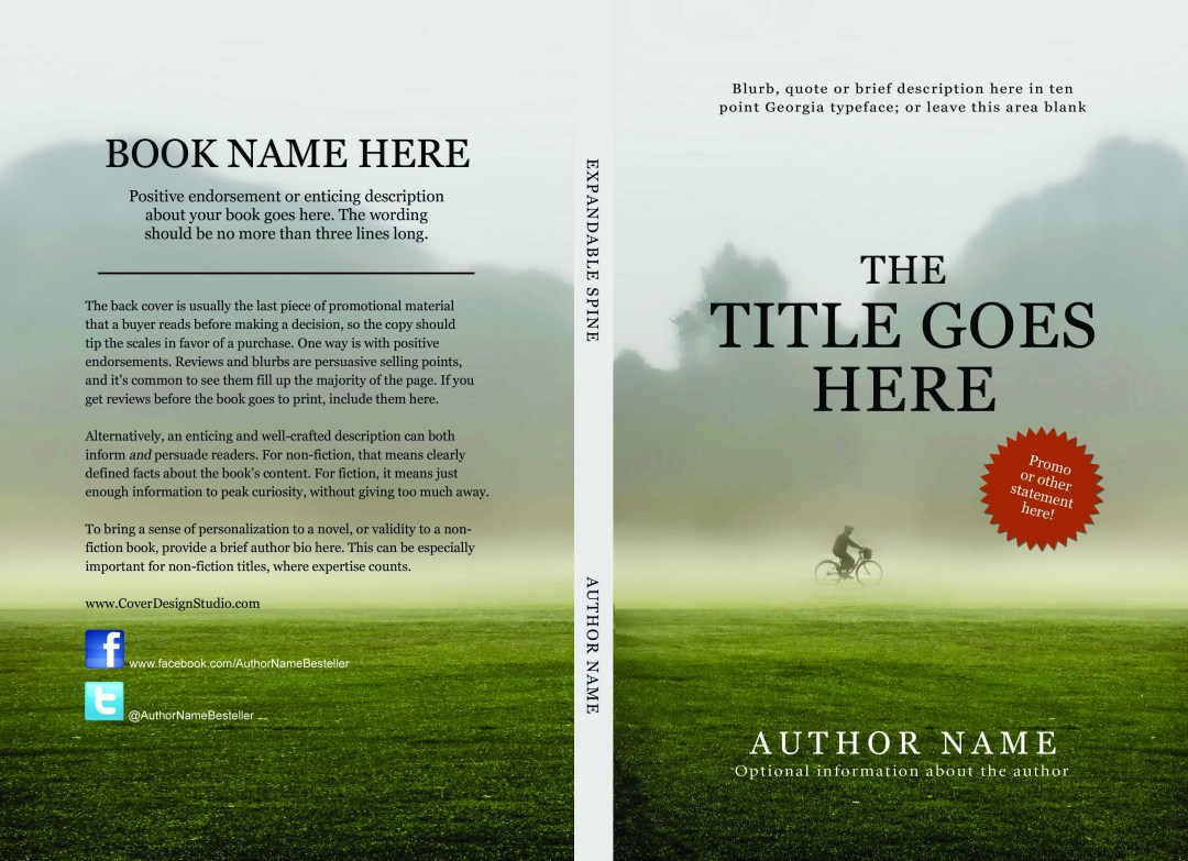 Book Back Cover Template : Createspace and kindle covers made easy cover design studio