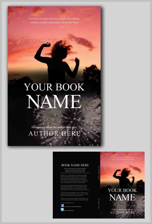 Child in pink sky cover design studio for Createspace interior templates