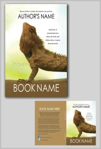 cool book cover upward facing iguana