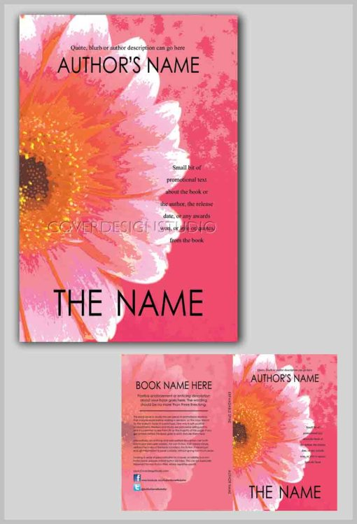 pink floral book cover