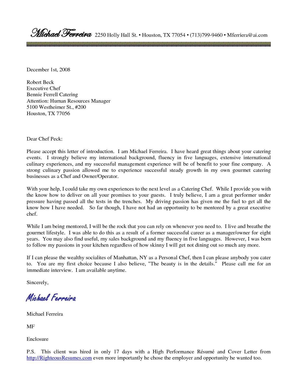 Culinary cover letter examples  reportspdf771webfc2com