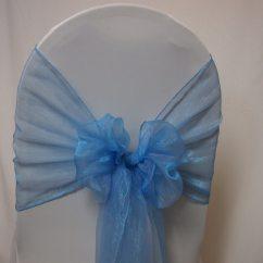 Baby Blue Wedding Chair Covers Maestro Pedicure Spa Decoration Hire Sash Organza Sky