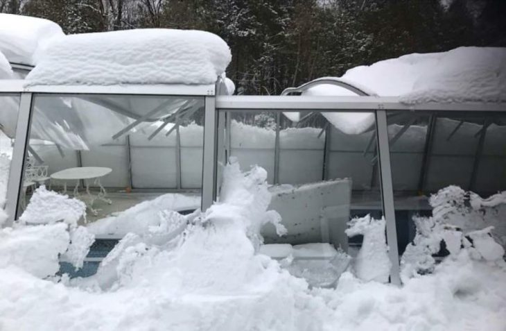 Alukov IPC- Collapsed Pool Enclosure