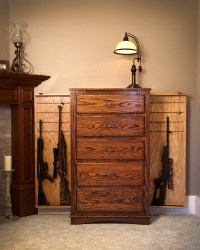 chest of drawers with hidden compartments to hide guns and