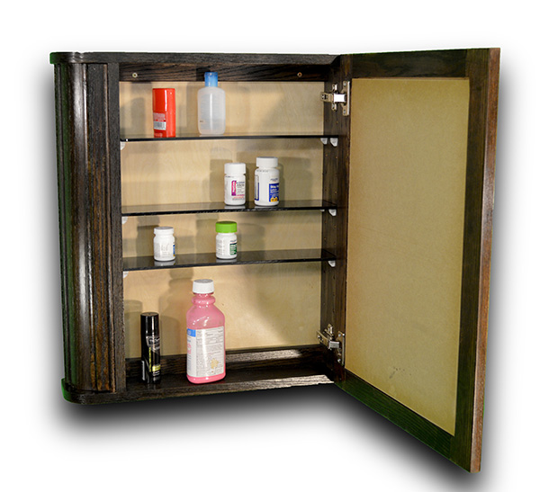 medicine cabinet with hidden compartments to hide