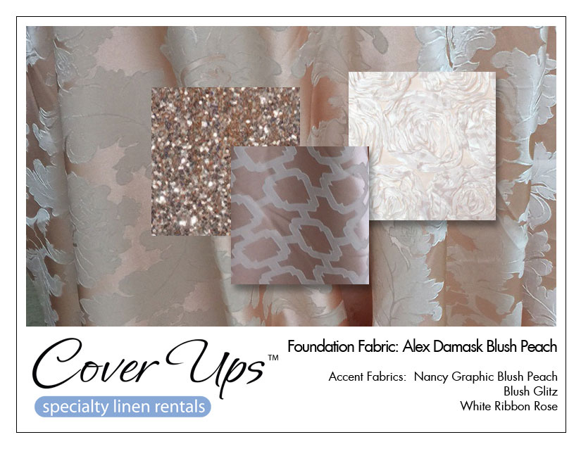 chair cover and tablecloth rentals wicker dining chairs indoor linen chiavari north alex damask blush peach storyboard