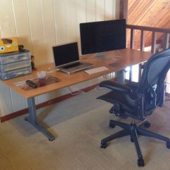 Aeron Chair Review 2017 White Dining Room Home Office Setup Review: Geekdesk + - Nate Covington