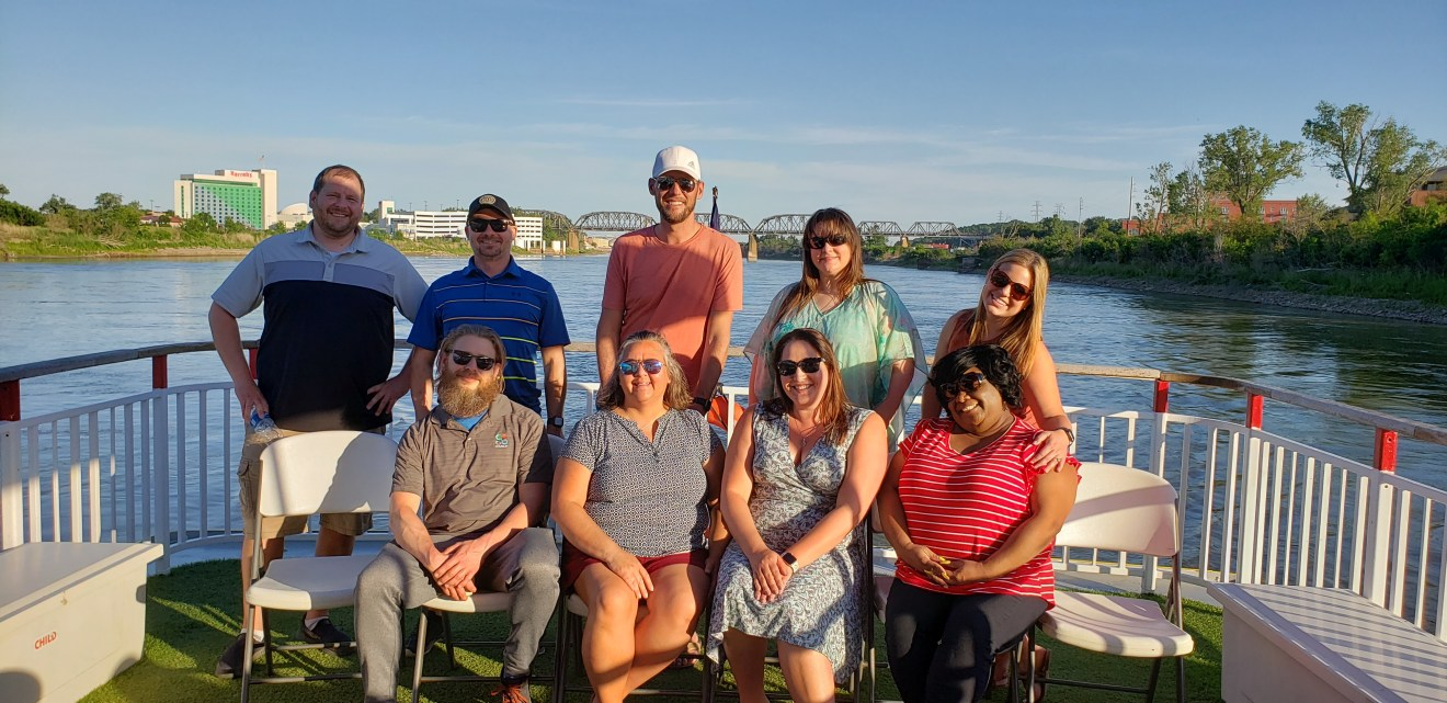 Covisum team on board the River City Star