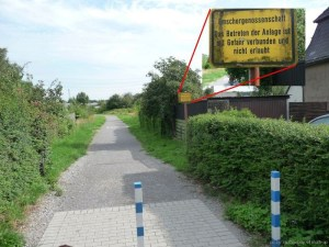 Piekenbrocksbach Warnschild