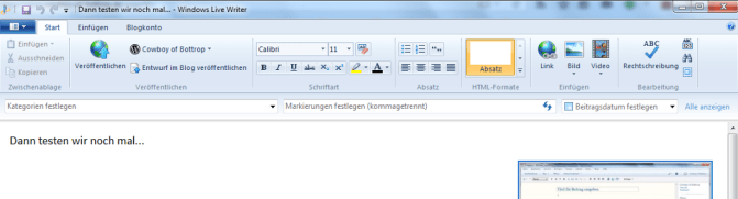 Windows Live Writer Header
