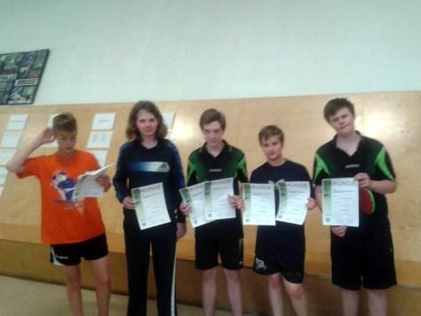 Tischtennis Stadtmeisterschaft 2015 Schüler A Siegerehrung