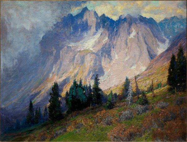 Mountain Artist Charles Partridge Adams Cowboys And