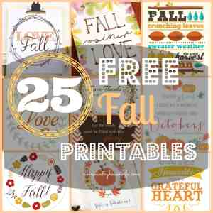 25 Free Fall Decor Printables