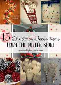 15 Christmas Decorations from the Dollar Store