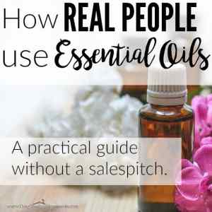 How a Normal Person Uses Essential Oils