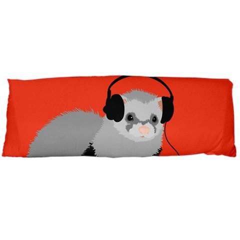funny music lover ferret body pillow cases dakimakura body pillow case dakimakura