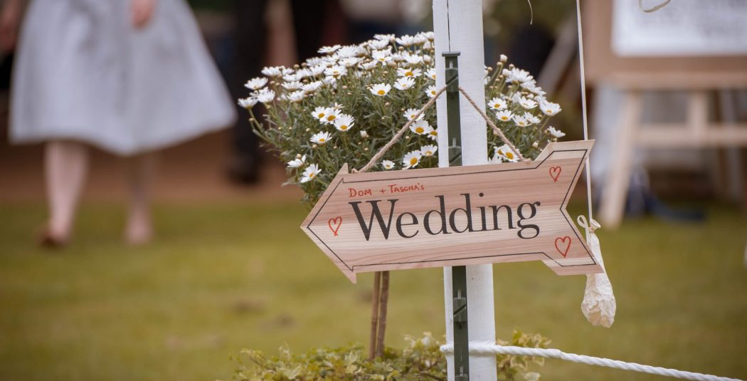 Capron wedding sign