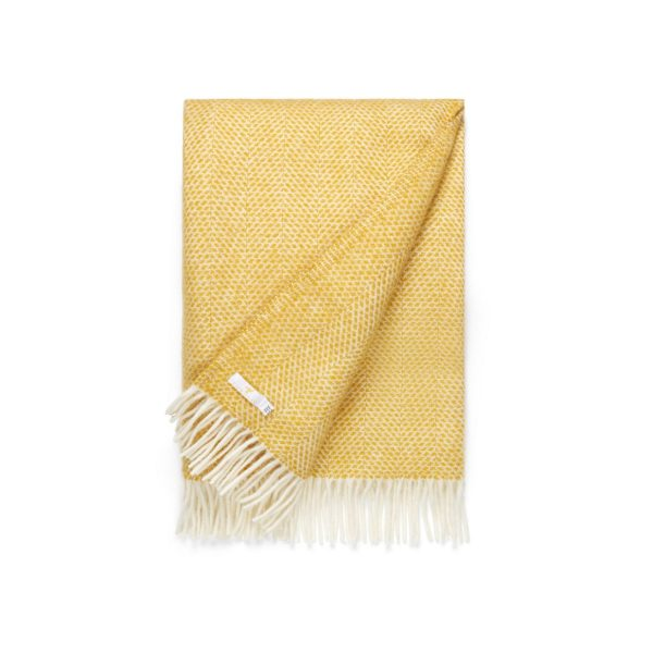 Cowdray Beehive Yellow Throw