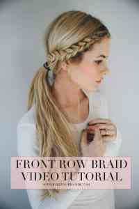 Braids Back To Front | two front french braids to crossed ...