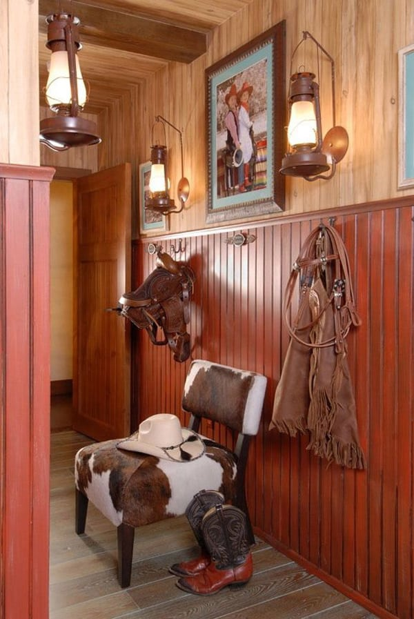 Western Home Decorating with Saddles