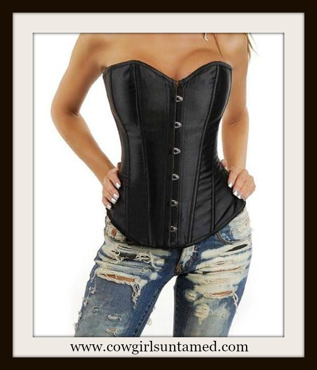 corset bustier sexy satin black top sexy strapless