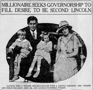 "News article from 14 August 1924 News Herald (Franklin PA) with Headlines: ""Millionaire Seeks Governorsihp To Fill Desire to Be Second Lincoln"""