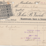 1902 John B. Varick Co. receipt for purchase of turpentine