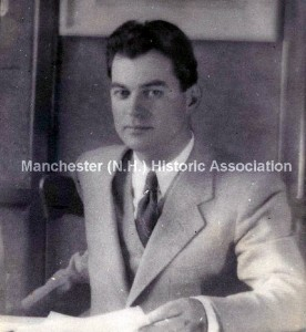 Photograph of Omer Lassonde, taken between 1935 and 1942 when he was director of the Federal Arts Project in New Hampshire. Manchester Historic Association, used with permission.