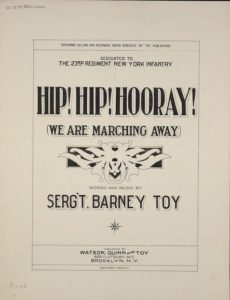 . Hip, Hip, Hooray!. [, Monographic. ,,:, 1917] Notated Music. Retrieved from the Library of Congress,