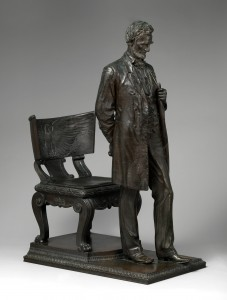 Abraham Lincoln, The Man, by Augustus Saint-Gaudens; Purchase, Tyson Family Gift, in memory of Edouard and Ellen Muller; The Beatrice G. Warren and Leila W. Redstone, and Maria DeWitt Jesup Funds; Dorothy and Imre Cholnoky, David Schwartz Foundation Inc., Joanne and Warren Josephy, Annette de la Renta, Thomas H. and Diane DeMell Jacobsen Ph.D. Foundation, and Felicia Fund Inc. Gifts, 2012; from the Digital Collection of the Metropolitan Museum of Art