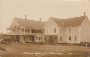 Baldwin's Store in Pittsburg, NH, one of Justus Baldwin's early ventures, later run by his son Frank.