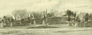 A sketch of Blossom Hill Cemetery from the History of Concord NH by Lyford.