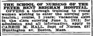 School of Nurse from newspaper