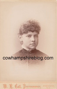 Mattie S. Chadwick, 1890 graduate of Manchester (NH) High School. From collection of J.W. Brown