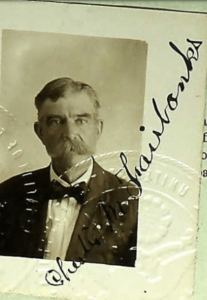 Photograph of Chester M. Fairbanks later in life, from his passport.